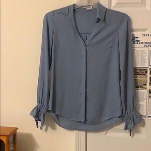 Express Portofino Slim Fit Sky Blue Shirt